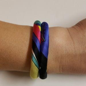 Jewelry - Handmade silk bracelet with magnet clasp